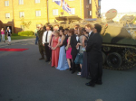 Who wants a limo for their prom, a tank is much better