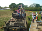 Tank rides at a country show