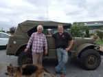 Bob and Neil with the command car