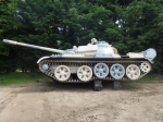 40T T55 tank doing a promotional video for a woodburner manufacturer